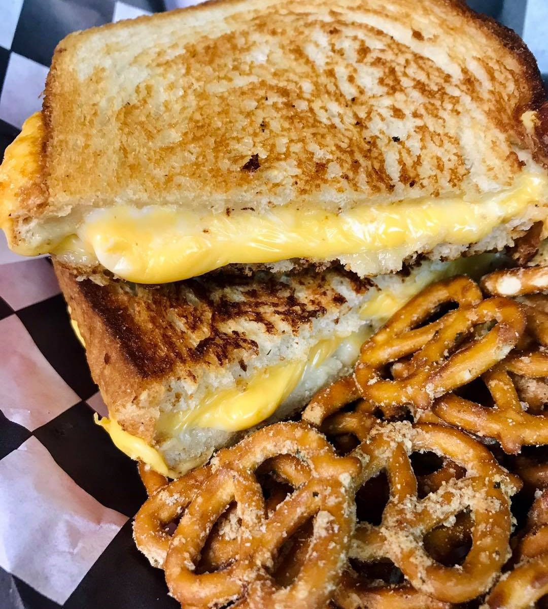 grilled cheese food at battlehops brewing katy tx board game cafe brewpub