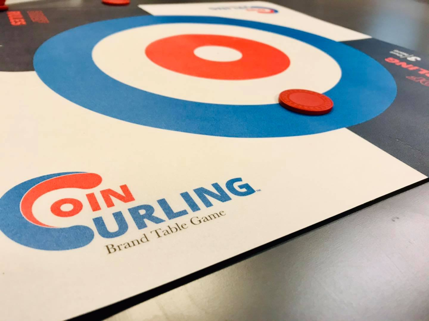 coin curling tabletop game katy tx board game cafe battlehops brewing