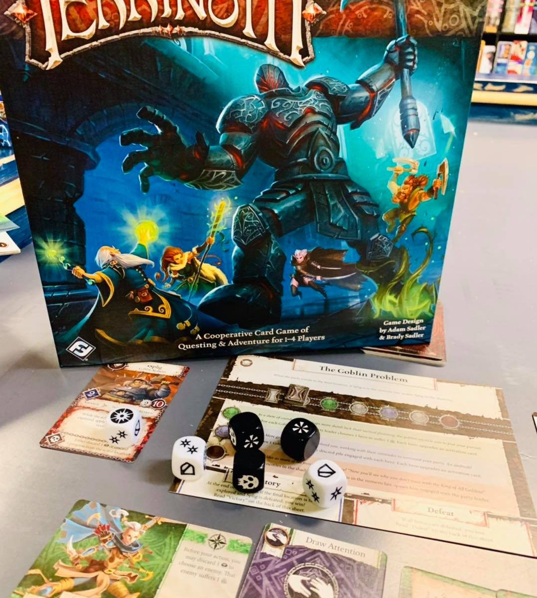 heroes of terrinoth board game review from battlehops brewing katy tx board game cafe and brewery
